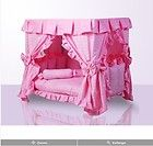 Luxury Pink Princess Dogs Cat Pet Bed House Handmade