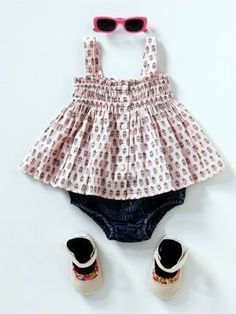 Kids fashion: Summer clothing styles for baby girls 50's style Top, Country Road, rrp $34.95; Bloomers, Ouch, rrp $28; Shoes, Cheeky Little Soles, rrp $29.95; Sunglasses, Bright Bots, rrp $8.95 Photos - Yahoo! New | | http://beautifulsummerclothes.blogspot.com