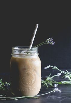 Lavender-Honey Iced Latte - offbeat + inspired