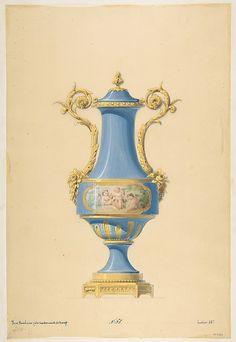 The Metropolitan Museum of Art - Design for a Porcelain Vase with Bronze Mount