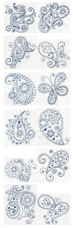 Paisley Blues ~ Tattoo ideas