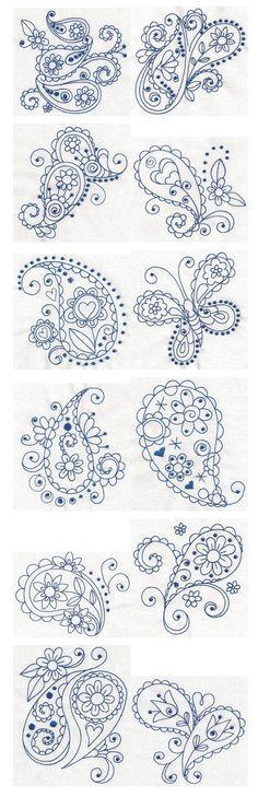 Paisley Blues ~ Tattoo ideas
