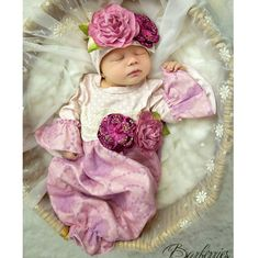 Haute Baby Avery Grace Gown - Stunning Floral Baby Take Home Outift