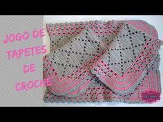 Jogo de Tapetes de Croche - YouTube Crochet Table Mat, Crochet Videos, Crochet Top, Crochet Baby, Crochet Blankets, Afghans, Youtube, Colorful Rugs, Oval Rugs