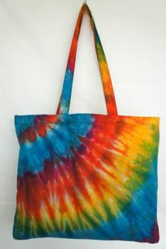 TIE DYE TOTE BAG 021 HANDMADE RARE Shoulder HIPPIE BOHO PURSE 60s 70s