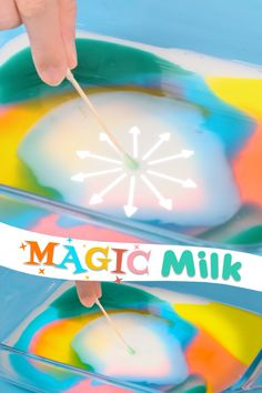 Magic Milk – A Fun Science Experiment and DIY Kid Craft Turn your ordinary milk into magic with this simple science experiments with items you already have at home! All you need is milk, dish soap, and food coloring! Science Experiments For Preschoolers, Science Projects For Kids, Cool Science Experiments, Science Activities For Kids, Fun Crafts For Kids, Science For Kids, Diy For Kids, Preschool Learning, Kids Fun