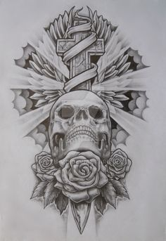 Skull and cross by Stu-mo