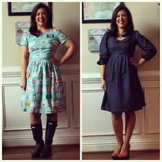 This spring-like weather has me thinking about a new Spring Handmade Closet challenge for myself! Two new (one new, one kinda new) handmade dress favorites completed, and a billion more to go! On the blog today! ✂ #springhandmadecloset #goatandlulu #handmadecloset #emerydress #washidress @christinehaynes @madebyrae