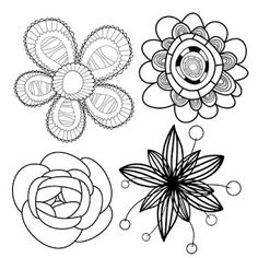 Shery K Designs: Free Digi Stamps | Flowers