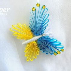 Quilling butterfly ornament by Paper Piece