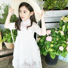 Clara Lace Tiered Dress - White