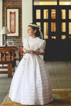 Girls Dresses, Flower Girl Dresses, First Communion, Wedding Dresses, Fashion, Fotografia, Dresses Of Girls, First Holy Communion, Bride Dresses