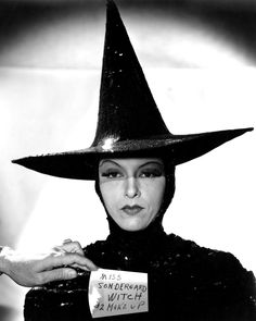 Medium shot of Gale Sondergaard in amake-up and wardrobe test for The  Wicked Witch before Margaret Hamilton assumed the role. Avis Conard · Black  Hat ... d0fb9b1e1412