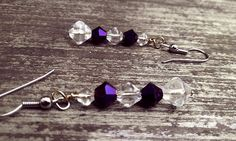 Deep Purple Dangle Earrings by thedragonsdencrafts on Etsy