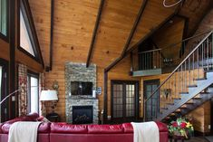 Custom log cabin Log Home Living, Log Homes, Photo Galleries, Stairs, Cabin, Gallery, House, Home Decor, Log Home