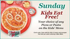 Great at – – Kids eat Free! Your choice of any Pizza or Pasta on the Kid's Menu Eat in only Only valid for kids 12 years and younger Two kids per adult ordering a main meal Sundays only Kids Menu, Favourite Pizza, Easy Chicken Recipes, Lunches And Dinners, Main Meals, Pasta Dishes, Family Meals, Italian Recipes, Great Recipes