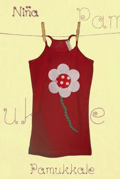Camiseta decorada con fieltro / Pamukkaleworld - Artesanio