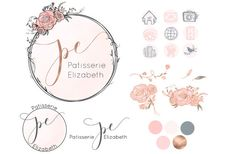 A whimsical hand drawn logo for your business. The rose gold colors and delicate drawings are classy and has a luxurious look. This is a premade branding set and it will be resold. If you are interested in a custom logo, please send me a message for more information. Thank you. There are 2 purchase options: 1. Main logo only - Personalized with your business name and tagline - Font options - You will receive the logo in high resolution 300DPI PNG and JPG images - You will receive the logo…