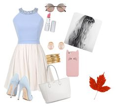 """""""First Kiss Outfit"""" by x-samcat ❤ liked on Polyvore featuring Dee Keller, Linda Farrow, Kenneth Jay Lane, HoneyBee Gardens and Kate Spade"""
