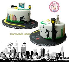 Tarta Criminóloga. Horneando Ideas. Birthday Cake, Desserts, Ideas, Food, Creativity, Tarts, Tailgate Desserts, Birthday Cakes, Deserts