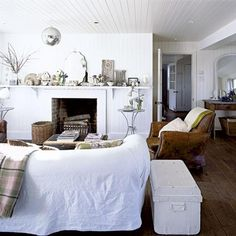 Traditional Interior Fireplaces Comfortable seating is a must and this fills the bill.
