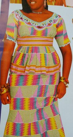 Women skirt and blouse Using Kente Fabrics includes only the best african clothing styles for women with taste for african fashion and styles. This is the best ladies design you can find in the world of african clothing African Fashion Designers, African Fashion Dresses, Fashion Outfits, African Wear, African Dress, African Style, Ankara Dress, Peplum Dress, African Design
