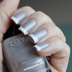 It's been awhile since I posted a work appropriate look. French manis are good for the office and I love gray polish ...so why not combine the two! I'm sure this has been done many times before. My...
