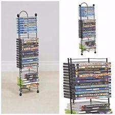 Dvd Tower Storage Atlantic Media Rack Shelf Stand Organizer Multimedia CD  Holder
