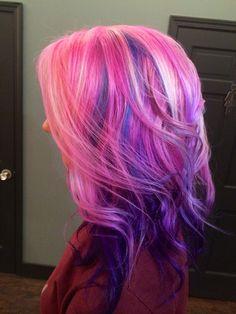 Pink Hair, Purple, Ombre, Balayage, Baliage, Highlights, Pravana, Vivid, Pastel, Neon, Summer 2014, Long Hair, Jason Franks Fahrenheit, Eaton Rapids, MI