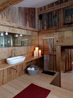 Bathroom Flooring wood rustic bathroom of red carpet runners candles hang lights