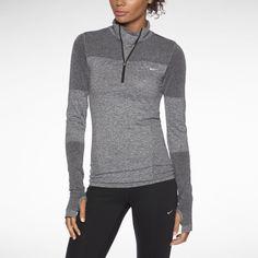 Nike Dri-FIT Knit Long-Sleeve Half-Zip Women's Running Shirt. Nike Store
