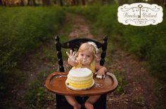 Ronda Wollard Originals » Blog - Honeybee Themed First Birthday Session cake smash