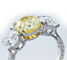 edwardian fine jewelry | Fine Edwardian Diamond Three Stone Engagement Ring at 1stdibs