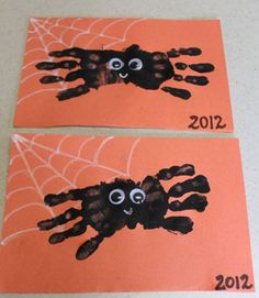 Handprint Spider Halloween Craft