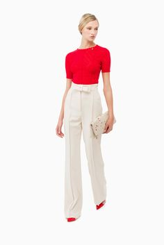 Pantalone palazzo con fiocco - Pantaloni su Digital Store ELISABETTA FRANCHI - la Boutique online ufficiale 184