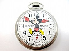 Disney Bradley Mickey Mouse Collectible Pocket Watch