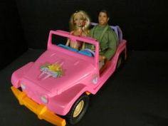 Barbie goes for a drive with Ranger Ken