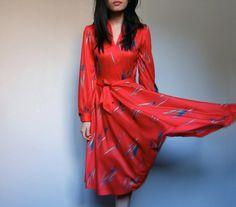 Vintage Red Dress via Midnight Flight