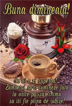 Imagini buni dimineata si o zi frumoasa pentru tine! - BunaDimineataImagini.ro Happy Weekend Images, Yasmina Rossi, Good Morning Good Night, V60 Coffee, Tableware, Food, Gifs, Photography, Beauty