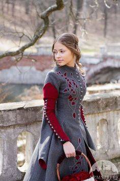 70a9bea8818 Woolen (Medieval) coat - imagining a modern version with the cutout details  and layered colors but tailored to allow room for sweater