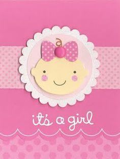 very cute baby card simple with cricut