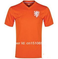 17ab28324 Free Shipping 2014 World Cup Netherlands Home Orange Soccer Sports Jerseys  Top 3A+++ Thai Quality Holland