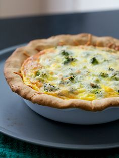 Foods by Color: Broccoli and cheddar quiche
