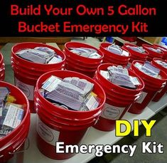 Recipes, Projects & More - Build Your Own 5 Gallon Bucket Emergency Kit