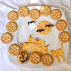 Halloween Crackers and Cheese