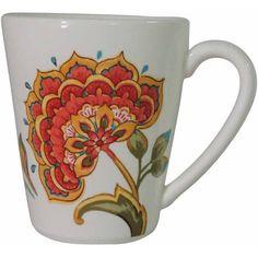 Better Home and Garden Set of 4 Floral Mug, Multicolor