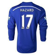Chelsea 14/15 HAZARD LS Home Soccer Jersey