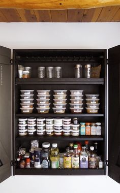 Setting up a super-efficient spice cabinet. | Door Sixteen