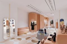 Maison Valentino inaugurates the new Red Valentino boutique store in Rome Boutique Interior, Shop Interior Design, Retail Design, Store Design, Interior Decorating, Valentino Store, Valentino Boutique, Red Valentino, Decoration Inspiration