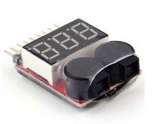RC Voltmetru Tester acumulatori 1-8S Lipo/Li-ion//Li-Fe cu alarma Bucuresti - imagine 1